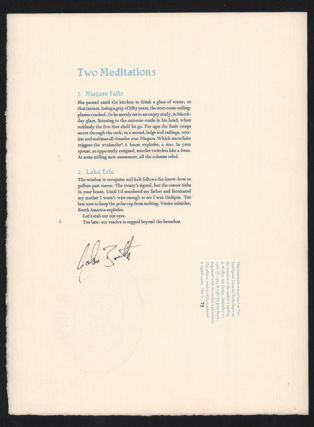 Two Meditations. John Barth