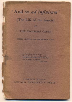 And so ad infinitum (The Life of the Insects). Karel Capek, Josef Capek