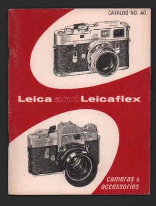Leica and Leicaflex: Cameras and Accessories