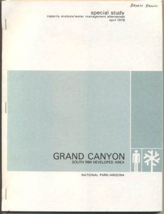 Capacity Analysis / Water Management Alternatives South Rim Developed Area Grand Canyon National...