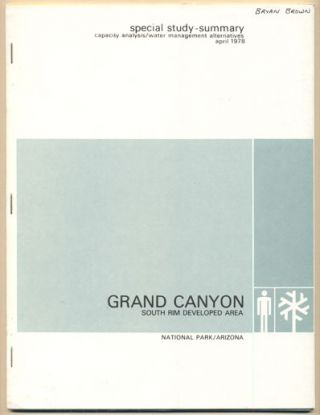 Capacity Analysis/Water Management Alternatives Grand Canyon National Park South Rim Developed...