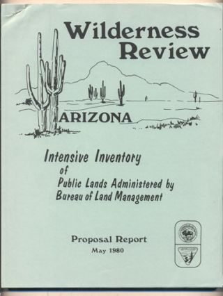 Bureau of Land Management Wilderness Review Intensive Inventory Proposal Report (Cover title-...