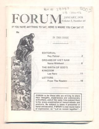Forum (118 issues of Ray Palmer's Forum)
