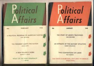 Political Affairs: Volume XXIV, Number 1, January, 1945 - Volume XXIV, Number 12, 1945; Volume...