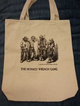 The Monkey Wrench Gang Tote Bag- The Whole Gang. Edward Abbey/R. Crumb