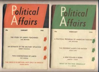 Political Affairs: Volume XXIV, Number 1, January, 1945 - Volume XXIV, Number 12, 1945 (12...