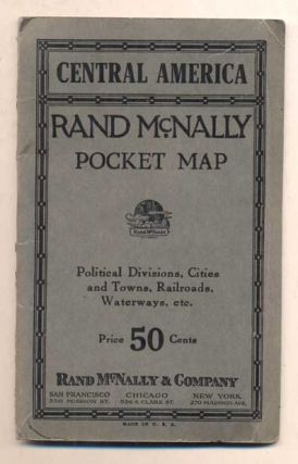 Central America: Rand McNally Pocket Map - Political Divisions, Cities and Towns, Railroads,...