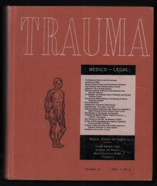 Trauma: Medicine, Anatomy, Surgery. Volume 12: Nos. 1 to 6. Marshall Houts, -In-Chief