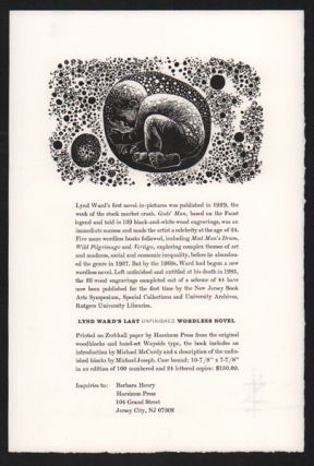 Prospectus for Lynd Ward's Last Unfinished Wordless Novel]. Lynd Ward