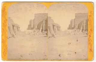 A Street Scene in Oraibi [Stereoview; Powell Expedition]. Hillers, Jack
