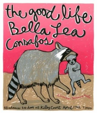 Signed, Limited Edition Poster by Artist Leia Bell: The Good Life, Bella Lea, Consafos...at Kilby...