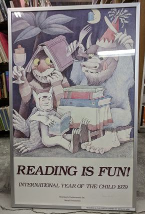 Reading is Fun! International Year of the Child 1979 [Signed Poster]. Maurice Sendak