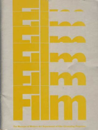 The Museum of Modern Art Department of Film Circulating Programs. Donald Richie