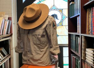 Edward Abbey's National Park Services Hat and Shirt. Edward Abbey.