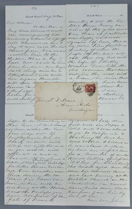 Colorado Silver Boom Letter [Masonic] [Leadville, Colorado