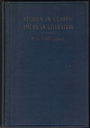 Studies in Classic American Literature. D. H. Lawrence