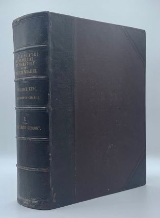 Report of the United States Geological Exploration of the Fortieth Parallel Made by Order of the Secretary of War According to Acts of Congress of March 2, 1867, and March 3, 1869, Under the Direction of Brig. and Bvt. Major General A. A. Humphreys, Chief of Engineers, By Clarence King, U. S. Geologist (Volumes I-VII); Atlas Accompanying Volume III on Mining Industry