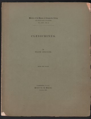 Cleiocrinus (Memoirs of the Museum of Comparative Zoology at Harvard College Vol. XXV. No. 2)....