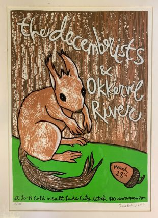 Signed, Limited Edition Poster by Artist Leia Bell: The Decemberists & Okkervil River. Leia Bell