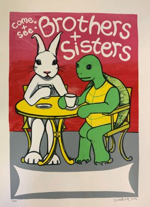Signed, Limited Edition Poster by Artist Leia Bell: Come + See: Brothers + Sisters. Leia Bell