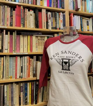 Ken Sanders Rare Books T-Shirt - Baseball Tee (Women's XL