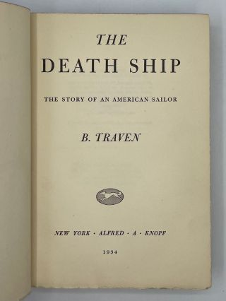 The Death Ship: The Story of an American Sailor