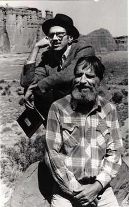 Photograph of Edward Abbey and Robert Crumb. Signed by Edward Abbey and the Photographer Ernest...
