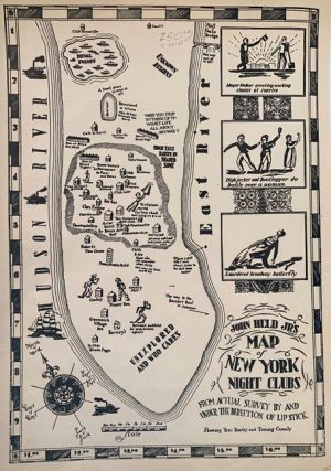 John Held Jr's Map of New York Night Clubs from Actual Survey By and Under the Direction of Lip...