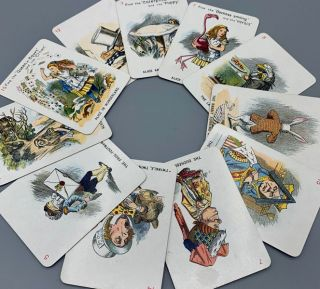 The New and Diverting Game of Alice in Wonderland consisting of Forty-Eight Pictorial Cards...