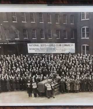 National Boys and Girls Club Congress. 17th Annual Visit As Guests of International Harvester Company- Tractor, McCormick Works & Twine Mill. Wednesday December 1st 1937