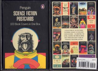 Science Fiction Postcards: 100 Book Covers in One Box