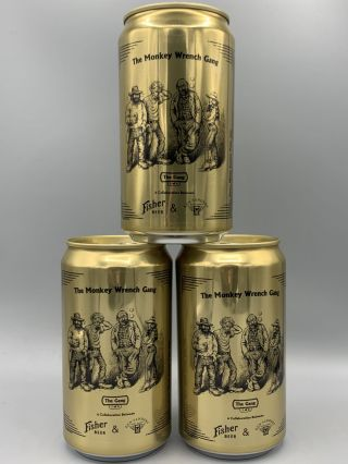 """The Gang"" Commemorative Monkey Wrench Gang Beer Can"