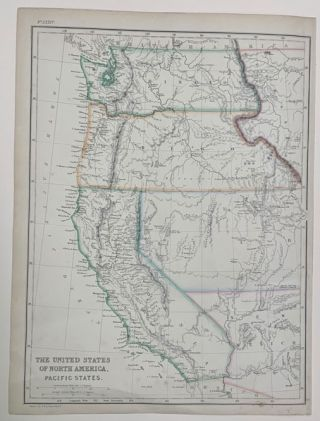 The United States of North America. Pacific States. J. W. Lowry, Map
