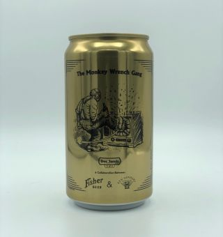 """Doc Sarvis"" Commemorative Monkey Wrench Gang Beer Can"