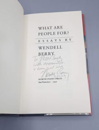 What are People For?; Essays by Wendell Berry