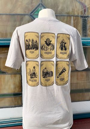Monkey Wrench Gang Beer T-Shirt - A Collaboration Between Ken Sanders Rare Books and Fisher Beer - LARGE