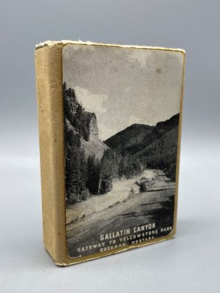 Gallatin Canyon: Gateway to Yellowstone Park (Souvenir Playing Cards). National Parks